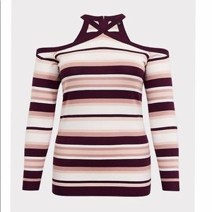 Torrid Cross Neck Sweater